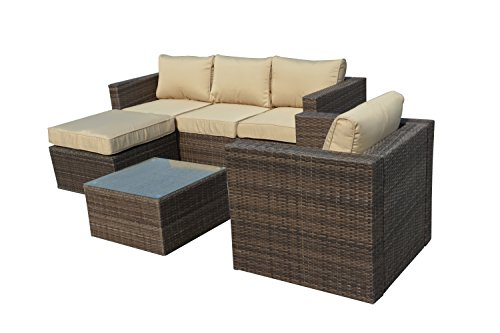 Manhattan Comfort Paisley 4 Piece Outdoor Patio Sofa Set