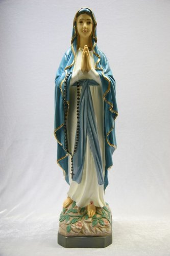 25'' Our Lady of Lourdes Blessed Virgin Mary Statue Sculpture Figure Vittoria Collection Made in Italy by Vittoria Collection