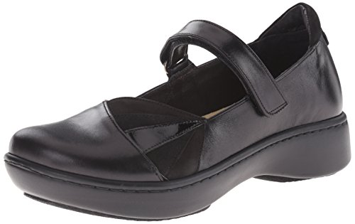 Black Jane Black Nubuck Black Leather Mary Black Leather Suede Flat Patent Velvet Adriatic Naot Madras Women's PxFR88
