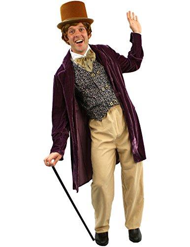 Victorian Men's Costumes: Mad Hatter, Rhet Butler, Willy Wonka Adult Chocolate Man Costume $61.39 AT vintagedancer.com