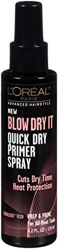 L'Oreal Paris Advanced Hairstyle BLOW DRY IT Quick Dry Primer Spray 4.2 fl. oz.