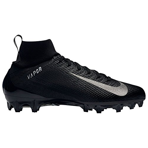 Nike Men's Vapor Untouchable 3 Pro Football Cleats - Black/White, 11.5 D(M) US (Nike Vapor Carbon Fly Td Cleats For Sale)
