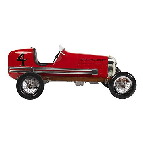 1930s Red Bantam Midget Model Racecar (Bantam Model Midget Car)