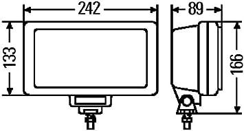 HELLA 1NE 006 300-011 Faro antiniebla Hal/ógena Lado mont.: izquierda//derecha Jumbo 220 montaje exterior transparente H3-12V//24V