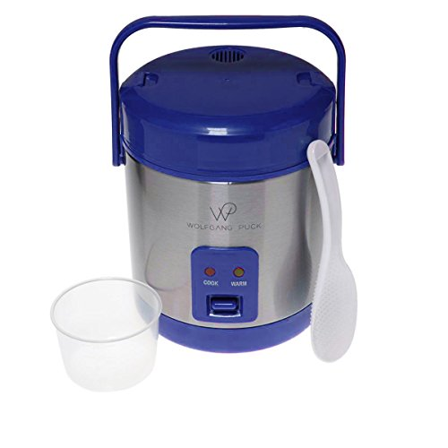 Wolfgang Puck Stainless Steel 1.5-Cup Rice Cooker with Recipes – Cobalt Blue Review