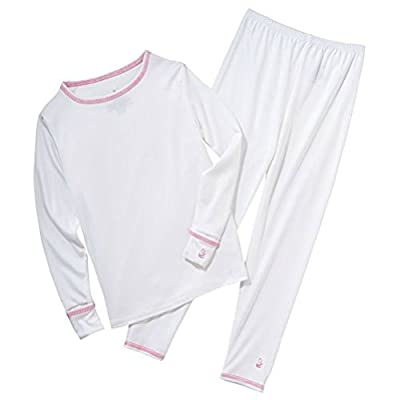 Girl's White cudd Thermal Set, 4T