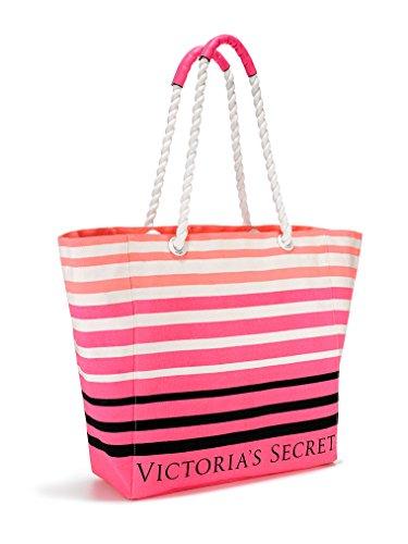 Victoria's Secret Pink Striped Beach Tote Bag