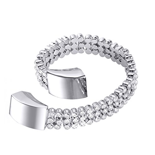 bayite Metal Bands Compatible Fitbit Alta and Alta HR, Set with Rhinestone, Full Diamond Silver