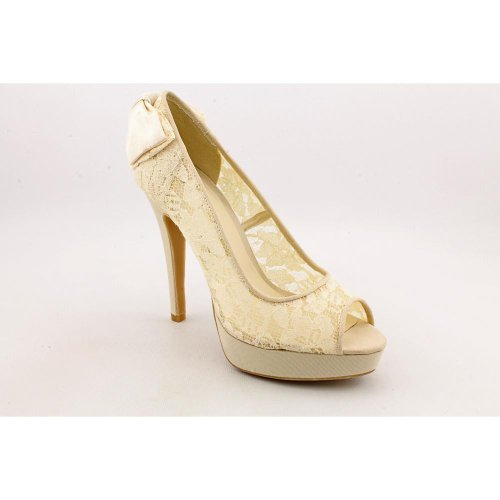 Chinese Laundry Haylow Womens Size 10 Ivory Peep Toe Lace Platforms Heels Shoes