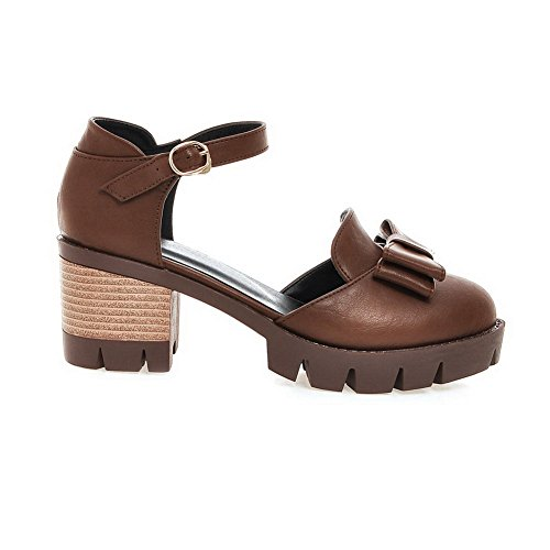 Mini MJS03282 Size Marking Womens Sandals Non Cold Lining Brown 1TO9 Urethane wXzBqn