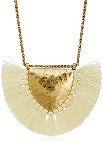 Lucky Brand Fringe Pendant Necklace, 29