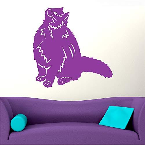 cinauc Wall Stickers Art Decor Decals Happy Cat Looking Up Animal for Living Room Bedroom Nursery Kids Room