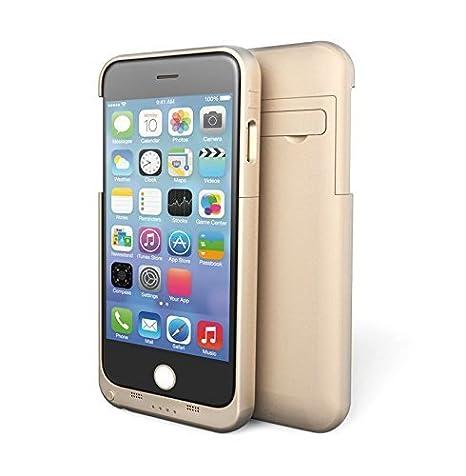STOGA Upow Power Cargador de Copia de Seguridad Batería Externa Funda para iPhone 5/5S/6/6 Plus, plástico, Dorado, Iphone6 plus/4800mAH