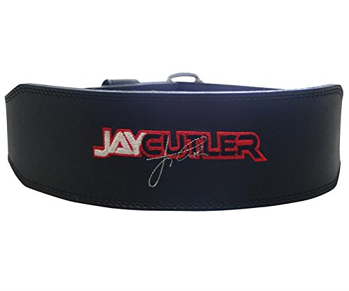 """Ironcompany.com Schiek Sports J2014 Jay Cutler Signature 4"""" Black Leather Weight Lifting Belt - Custom Designed by Mr. Olympia for Weightlifting and Bodybuilding"""