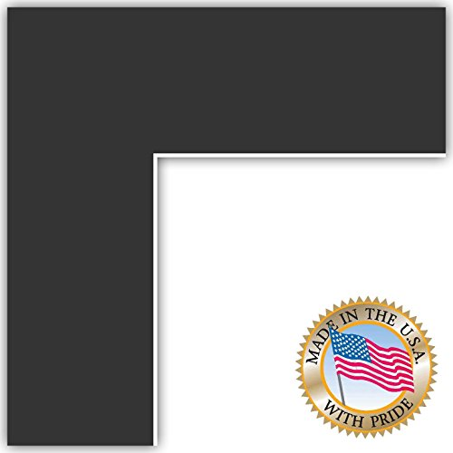 24x34 Smooth Black / Black Custom Mat for Picture Frame with 20x30 opening size (20x30 Photo Paper)