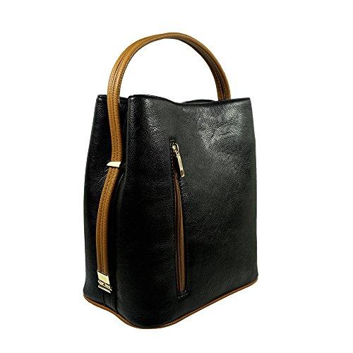 'sabrina' Designer Black Convertible Handbag By Samoe Style Ss-0011