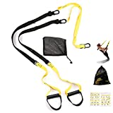 IKEFLY Trainer Kit Training Straps Bodyweight Resistance Training System Home Gym Fitness Trainer, Outdoor and Indoor, Professional Fitness Super Sturdy Training Straps for Full-Body Workout Exercise