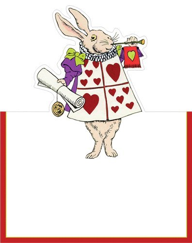 Alice in Wonderland Wedding Place Cards No Placecard Holders Needed Tea Party 16 Pc (Tea Place Card Party Holders)