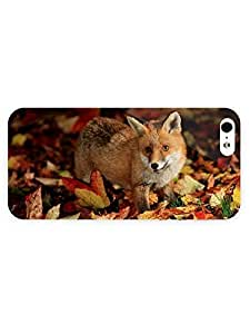Kingsface 3d Full Wrap case cover for iPhone Q5i9eCxkKDR 5/5s Animal Cute Fox77