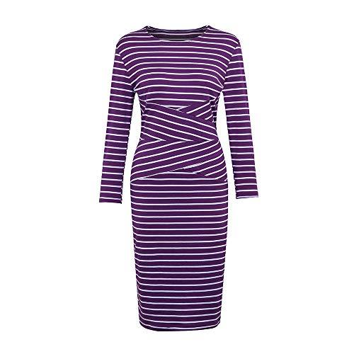 Vêtements Femmes Violet Pour Robe De Rayures À Cocktail TravailGreatestpak Bureau Robes Crayon Travail 9eEDYbWH2I