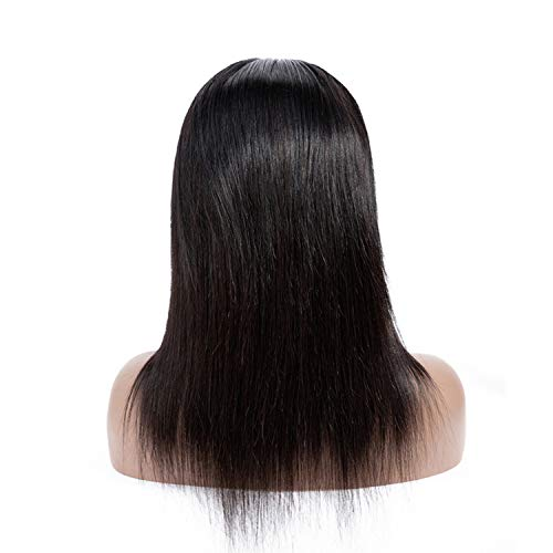 Plecare 44 Lace Front Human Hair Wigs For Black Women Straight Lace Front Brazilian Hair Wig Non Natural Color,Lace Front,22inches]()