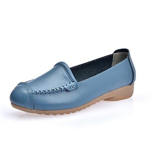 York Zhu Loafers Women, Slip On Round Toe Basic Moccasins Shoes, Women Casual Flats -