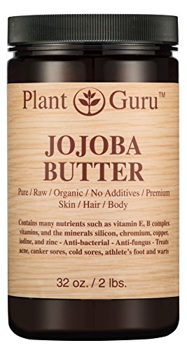 Jojoba Body Butter 32 oz. 100% Pure Raw Fresh Natural Cold Pressed. Skin Body and Hair Moisturizer, DIY Creams, Balms, Lotions, Soaps.
