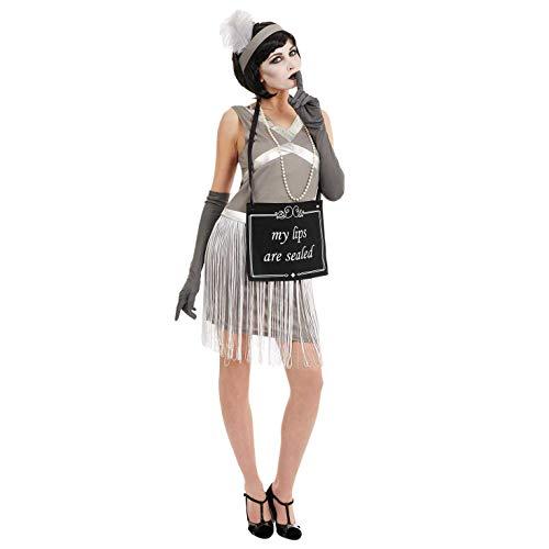 fun shack Womens Silent Film Flapper Girl Costume Adults 20s Halloween Dress - ()