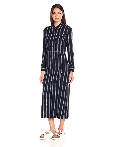 Splendid Women's Rope Stripe Shirtdress Maxi, Navy, (Rope Stripe)