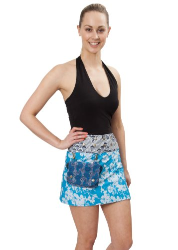 Mix Print Reversible Ibiza Skirt with Detachable Belt (Print Reversible Skirt)