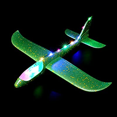 Haayward Foam LED Night Airplane, Inertial Hand Launch Throwin, Glider Aircraft Toy, Plane Model, Outdoor Educational Toys: Toys & Games