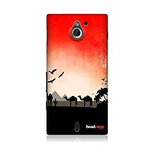 Sunset Desert Lifescapes Silhouette Case For Sony Xperia sola MT27i