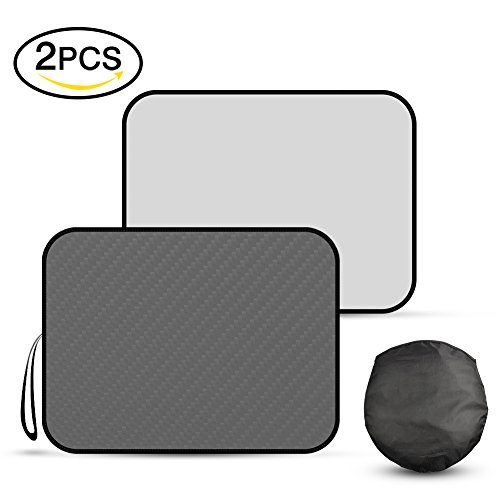 Automecar Car Sun Shade for windshield - 2 Pack Universal Car Windshield Sunshade Cover to Keep Vehicle Cool. Heat and Sun Reflector