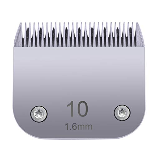 Clipper Blade Replacement Compatible with Wahl KM10, KM2, KM5, 10 Blade Compatible with Oster/Andis Detachable Clipper for Dog Grooming