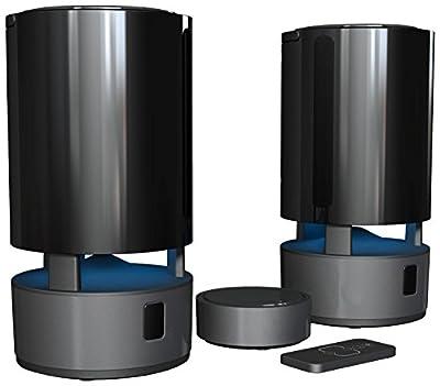 Wolverine WIOS2 Wireless Indoor-Outdoor Stereo Speakers - Water Resistant - Black (Twin Speakers)