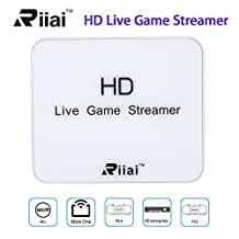 HD 1080P Live Streamer Box Share Video Gaming Capture Card For Xbox Play Station PS4 PS3 Xbox Blu ray DVD STB DV with 2 HDMI Input
