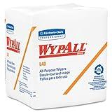 Wypall L40 Cloth-Like 1/4-Fold Wipers, 12 1/2 X 12, 56/Box, 18 Packs/C