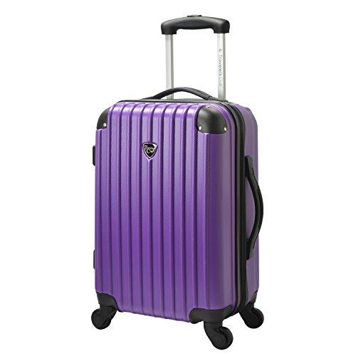 Travelers Club Luggage Madison 20 Hardside Exp Carry-on Spinner, Purple
