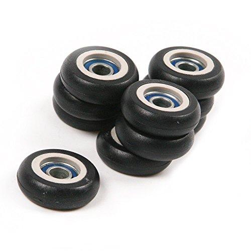 Driak 20 Pics 5x23x7.5mm Nylon Small Bearings Roller Plastic Pulley Wheels for Door Windows (Toy Wheels Plastic)