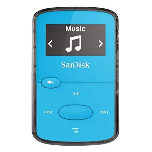 SanDisk 8GB Clip Jam MP3 Player (Blue) (Certified Refurbished)