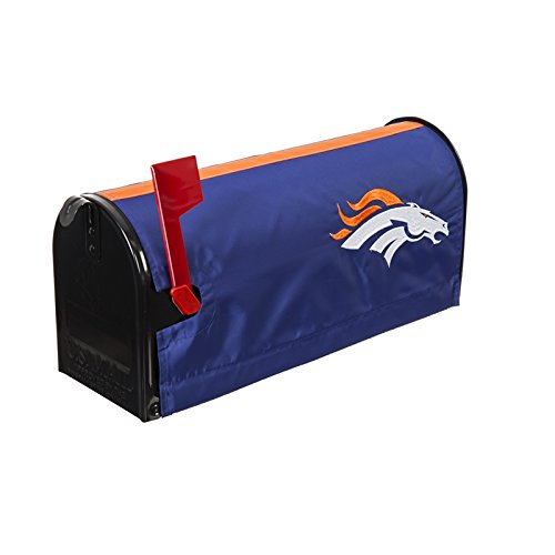 Cover Mailbox Team (Ashley Gifts Customizable Embroidered Applique fabric NFL Mailbox Cover, Denver Broncos)