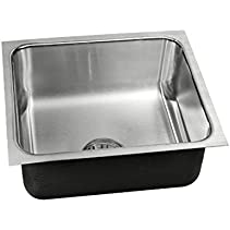 SINGLE BOWL - INTEGRA DRAIN W/O GB OUTLET - UNDERMOUNT - 18 GAUGE STAINLESS STEEL -ÿDEEPÿ- LESS FAUCET LEDGE - USXN-1816-A