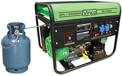 60173 Generador de corriente BiFUEL GLP/Gasolina VINCO 5,5kw ...