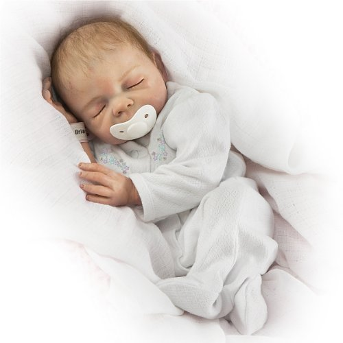 Cherish with Free Pacifier and Hospital Bracelet You Can Personalize So Truly Real® Lifelike, Realistic Newborn Baby Doll 18-inches by The Ashton-Drake Galleries