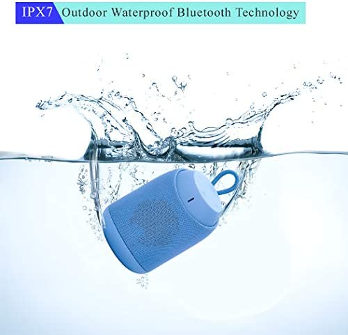 Bluetooth Speaker, Portable Wireless Speaker, Bluetooth 4.2, IPX7 Waterproof, 360 Stereo Rich Bass, 12 Hours Play Time, Suitable for Outdoor Walking, Indoor Shower, Yoga Blue