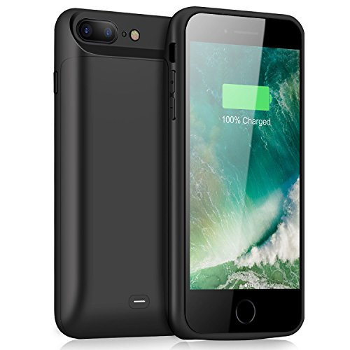 iPhone 8 Plus 7 Plus Battery Case, Feob 7200mAh Battery Pack for 8 Plus Extended Portable Battery Charging Case for iPhone 7 Plus/8 Plus Power Juice Pack-5.5 Black