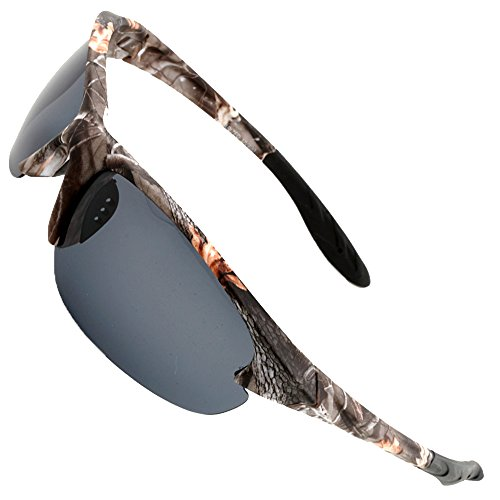 MOTELAN Polarized Casual Sports Sunglasses Tr90 Camouflage Unbreakable Frame for Driving Fishing Hunting