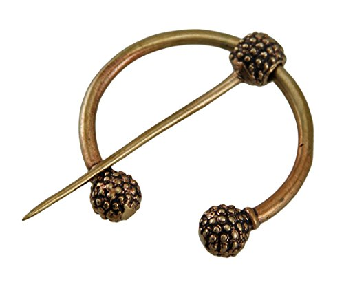 Bronze Womens Brooches And Pins Large Bronze Finish Viking Torc Clasp Norse Cloak Pin 2 X 2.5 X 0.25 Inches Bronze Model # BZP-304