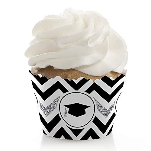 Silver Tassel Worth The Hassle - Graduation Party Decorations - Party Cupcake Wrappers - Set of 12 ()