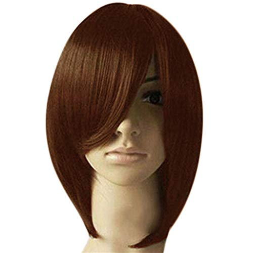(Malbaba Wigs Fashion Synthetic Short Straight BoBo Black Brown Wig for Women)